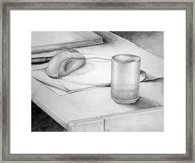 Desk Framed Print by Morka Mold