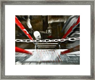 Desperate Escape Framed Print by Gwyn Newcombe