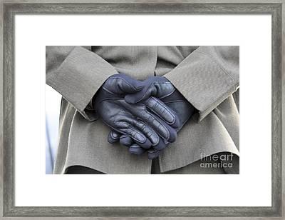 Despite Light Rain And A Chilling Framed Print by Stocktrek Images