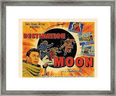 Destination Moon, Left John Archer Framed Print by Everett