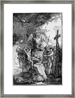 Destruction Of Idols, C1750 Framed Print by Granger