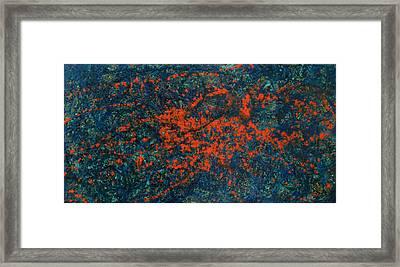 Destruction Of Sodom Framed Print by Jonathan E Raddatz
