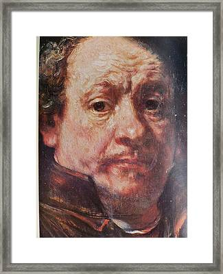 Detail From Portrait Of The Artist Rembrandt Canady Portfolio 9 Framed Print by Jake Hartz