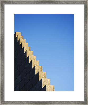 Detail Of A House Construction Framed Print by Stuart Paton