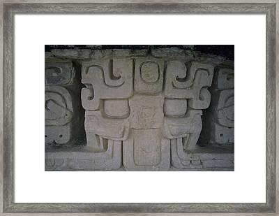 Detail Of A Stucco Frieze, Located Framed Print by Stephen Alvarez