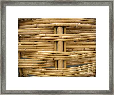 Detail Of Bamboo Construction Framed Print by Yali Shi