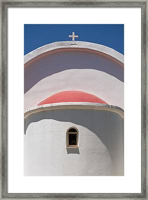 Detail Of Small Church Between Limnes Framed Print by Axiom Photographic