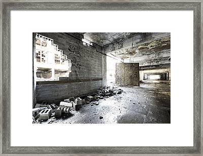 Detroit Abandoned Building Framed Print by Joe Gee