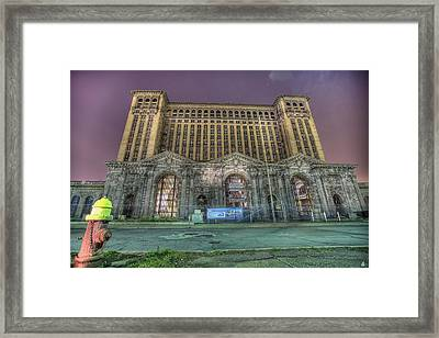 Detroit's Michigan Central Station - Michigan Central Depot Framed Print by Nicholas  Grunas
