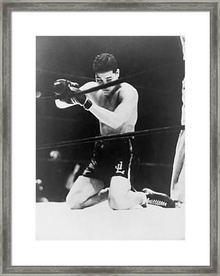Detroits Brown Bomber, Heavyweight Joe Framed Print by Everett