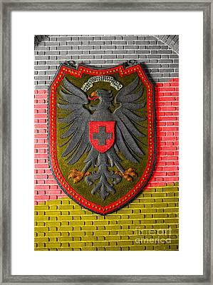 Deutsch Weimarer Shield Framed Print by Jost Houk