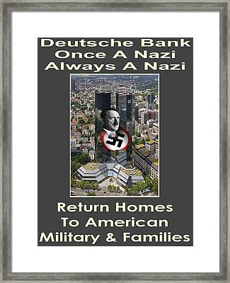 Deutsche Bank Return Homes To Americans Framed Print by Terry Lynch