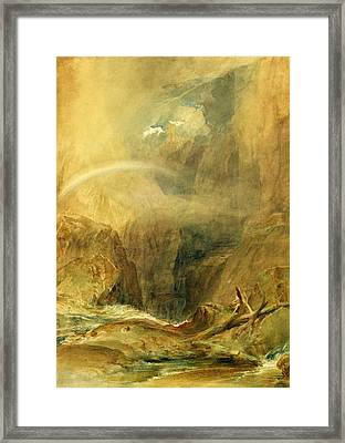 Devil's Bridge Framed Print by Joseph Mallord William Turner