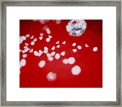 Diamond Gemstones Framed Print by Lawrence Lawry