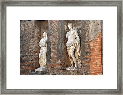 Diana And Apollo. Framed Print by Terence Davis