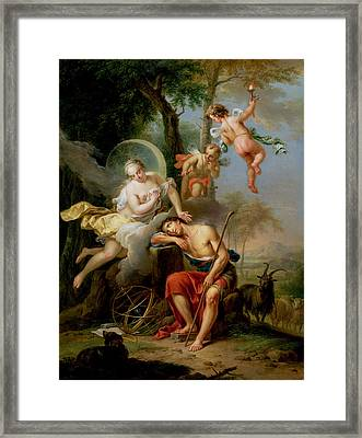 Diana And Endymion Framed Print by Frans Christoph Janneck