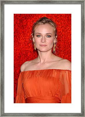 Diane Kruger Wearing A J. Mendel Dress Framed Print by Everett