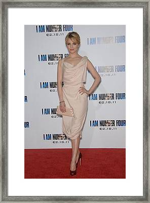 Dianna Agron Wearing A Vivienne Framed Print by Everett