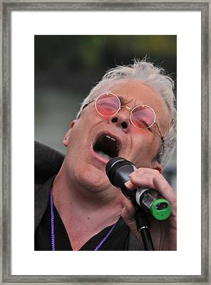 Dicey Riley Frontman Framed Print by Mike Martin