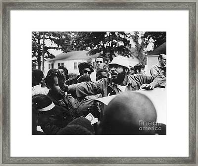 Dick Gregory (1932- ) Framed Print by Granger