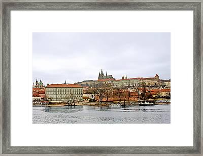 Die Moldau - Prague Framed Print by Christine Till