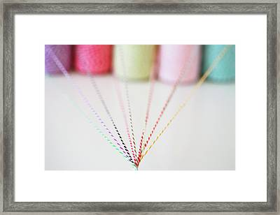Different Colored Twine Twisting Together Framed Print by © Stacey Winters  www.staceywinters.com