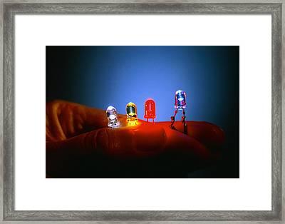 Different Coloured Light Emitting Diodes (leds) Framed Print by Volker Steger