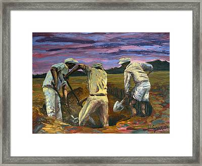 Diggers Framed Print by Nate Geare