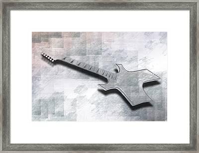 Digital-art E-guitar IIi Framed Print by Melanie Viola