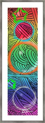 Digital Doodles Framed Print by Anthony Caruso