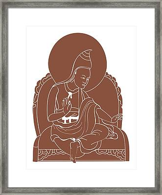 Digital Illustration Of 8th Century Buddhist Monk Padmasambhava Framed Print by Dorling Kindersley