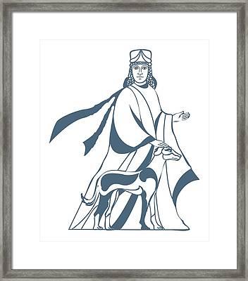 Digital Illustration Of Vohu Manah Caretaker Of Domestic Animals In Zoroastrianism Framed Print by Dorling Kindersley