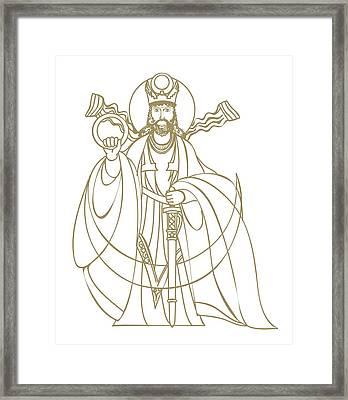Digital Illustration Of Zoroastrian Deity Kshathra Vairya Framed Print by Dorling Kindersley
