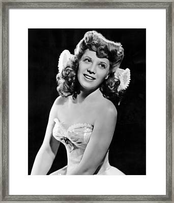 Dinah Shore, Ca. 1943 Framed Print by Everett