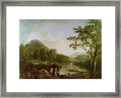 Dinas Bran From Llangollen Framed Print by Richard Wilson
