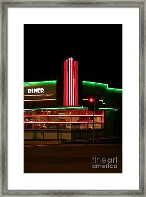Diner Lights Framed Print by Jerry L Barrett