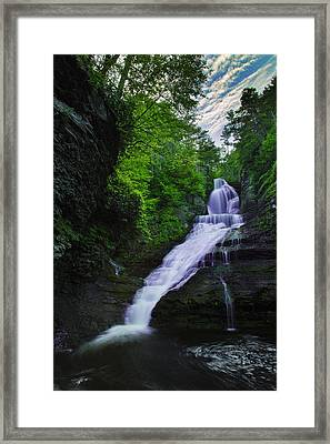Dingmans Falls Framed Print by Rick Berk