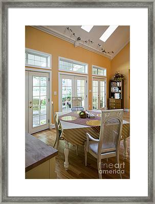 Dining Table In Kitchen Framed Print by Andersen Ross