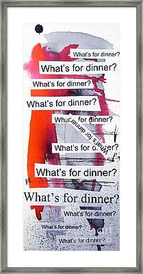 Dinner Framed Print by Linda Woods