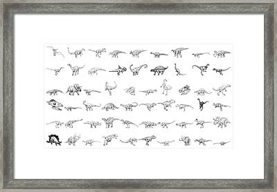 Dinosaur Collection Framed Print by Karl Addison