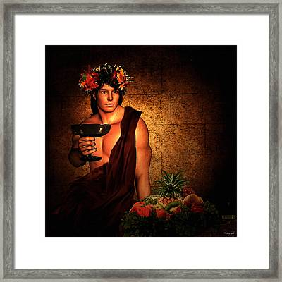 Dionysus Framed Print by Lourry Legarde