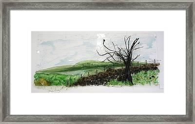 Dirt Road Framed Print by Mariann Taubensee