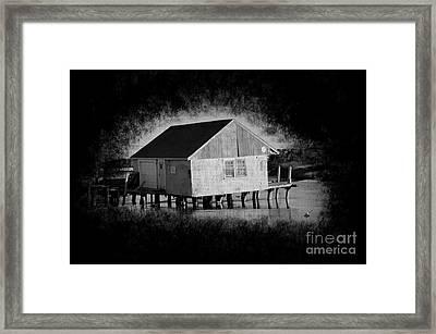Dirty Little Boathouse Framed Print by Luke Moore