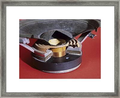 Dismantled Loudspeaker Framed Print by Andrew Lambert Photography