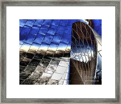Disney Hall Architectural Framed Print by Chuck Kuhn