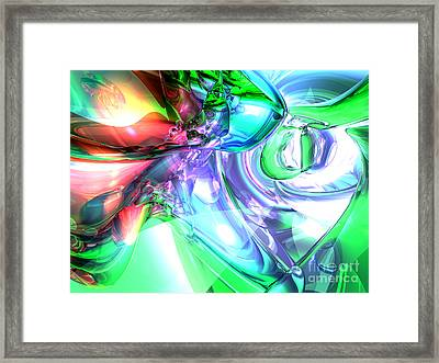 Disorderly Color Abstract Framed Print by Alexander Butler