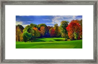 Distant Goal Framed Print by Dennis Lundell