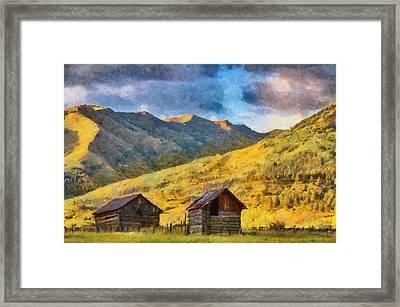Distant Storm Framed Print by Jeff Kolker