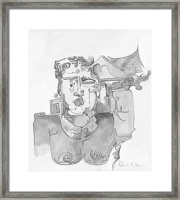 Distortion 3 Framed Print by Padamvir Singh