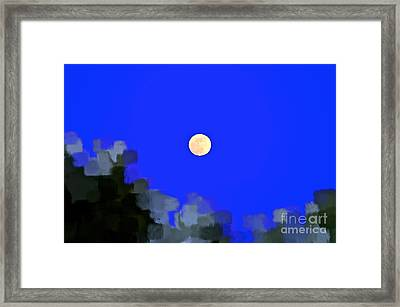 Man In The Moon Framed Print featuring the photograph Distortion by Gwyn Newcombe
